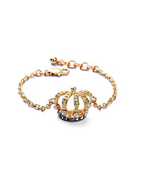 Vintage White+gold Color Crown Shape Pendant Decorated Simple Design