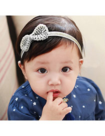 Cute Silver Color Bowknot Shape Decorated Simple Design