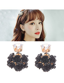 Fashion Black Rose Decorated Ball Shape Design
