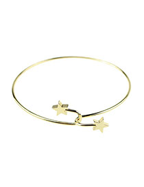 Trending Gold Color Double Stars Decorated Simple Design