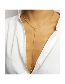 Fashion Gold Color Triangle Shape Decorated Simple Design Alloy Chains