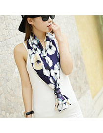 Fashion Dark Purple Flower Pattern Decorated Duplex Design