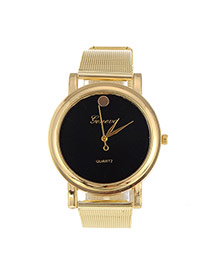 Fashion Black Rivet Decorated Simple Design  Alloy Ladies Watches