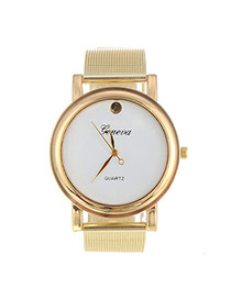Fashion White Rivet Decorated Simple Design  Alloy Ladies Watches