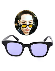 Fashion Purple Square Shape Frame Decorated Simple Design