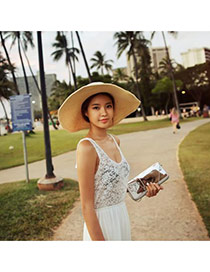 Fashoin Beige Spring and summer Seaside Beach Straw Sun Hats