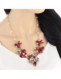 Exaggerate Red Diamond Decorated Simple Design