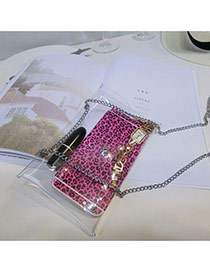 Fashion White Metal Chain Decorated Transparent Design Pu Handbags