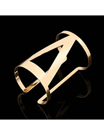 Trending Gold Color Hollow Out Triangle Opening Design