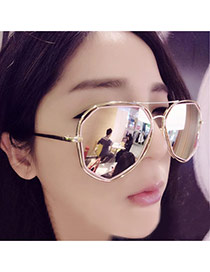 Trendy Silver Color Irregular Geometric Shape Frame Simple Design