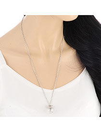 Fashion Silver Color Bulb Shape Pendant Decorated Long Chain Design