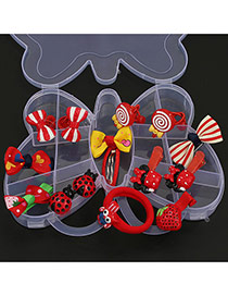 Cute Red Multielement Decorated Bowknot Shape Box Design(14pcs)