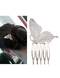 Fashion Silver Color Butterfly Shape Decorated Simple Design