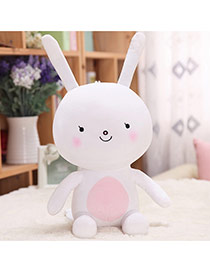 Lovely White Cartoon Rabbit Shape Design Dots Descendants Of The Sun Fabric Household goods
