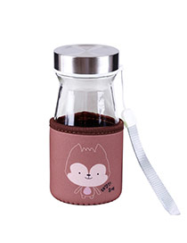 Trendy Coffee Wolf Pattern Decorated Mini Design Dots Descendants Of The Sun(350ml) Glass Household goods