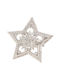 Fashion Silver Color Hollow Out Decorated Star Shape Design
