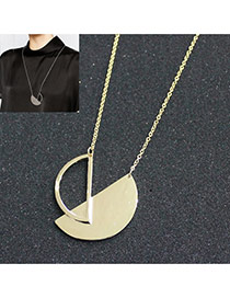 Fashion Gold Color Hollow Out Semicircle Pendant Decorated Simple Design