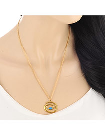 Fashion Gold Color Snake Pendant Decorated Simple Design