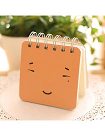 Lovely Orange Expression Pattern Simple Design Paper Stickers Tape Paper Notebook Agenda