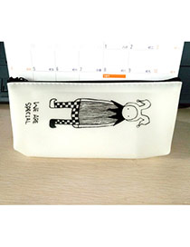 Lovely White Princess Pattern Decorated Simple Design Gellly Glue Pencil Case