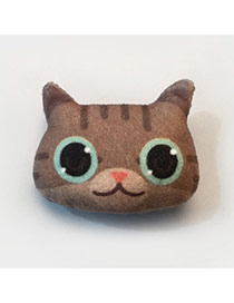 Lovely Coffee Cartoon Cat Pattern Decorated Simple Design Plush Wallet