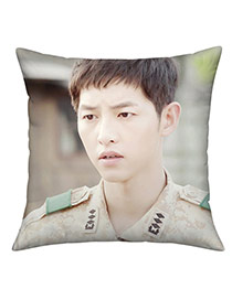 Fashion White Soldier Pattern Pillow Cases Dots Descendants Of The Sun Fabric Household goods