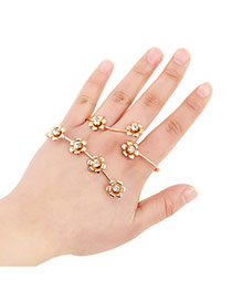 Sweet Gold Color Flower Shape Decorated Simple Design Alloy Fashion Bangles