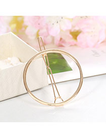Elegant Gold Color Round Shape Decorated Hollow Out Design Alloy Hair clip hair claw