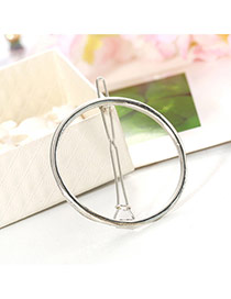Elegant Silver Color Round Shape Decorated Hollow Out Design Alloy Hair clip hair claw