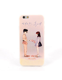 Fashion Gray Soilder&girl Pattern Decorated Dots Descendants Of The Sun Silicone Iphone 6