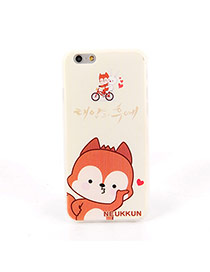 Fashion White Big Monkey Pattern Decorated Dots Descendants Of The Sun Silicone Iphone 6