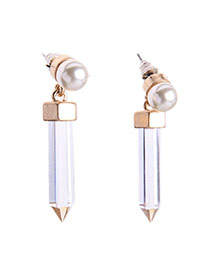 Fashion White Pencil Shape Pendant Decorated Simple Design