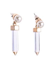 Fashion White Pencil Shape Pendant Decorated Simple Design