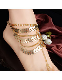 Fashion Gold Color Irregular Shape Decorated Mutlilayer Design