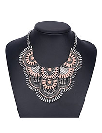 Bohemia Pink Fan Shape Decorated Short Chain Design