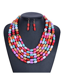 Exaggerated Multi-color Beads Weaving Decorated Multilayer Design