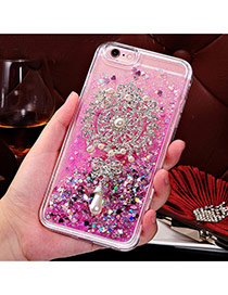 Fashion Plum Red Quicksand Liquid Pattern Decorated Simple Design  Iphone 6