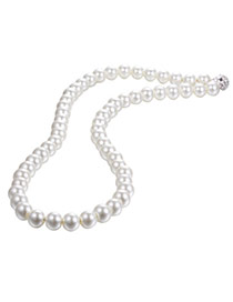 Personality White Pearl Decorated Simple Design Pearl Beaded Necklaces