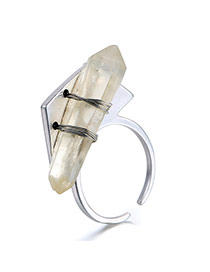 Personality Silver Color Bullet Decorated Opening Design Alloy Korean Rings