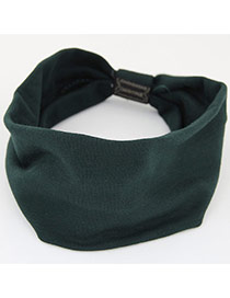 Fashion Navy Pure Color Design Wide-brimmed Casual Hair Band