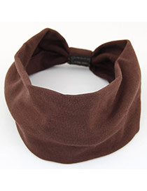 Fashion Dark Gray Pure Color Design Wide-brimmed Casual Hair Band