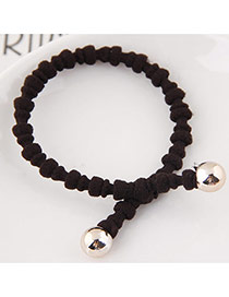 Elegant Brown Pure Color Design Bamboo Joint Shape Simple Hair Band
