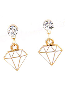 Sweet Gold Color Hollow Out Irregualr Shape Pendant Decorated Pure Color Earrings