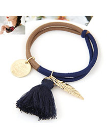 Trendy Multi-color Multielement Pendant Decorated Color Matching Simple Design Hairband