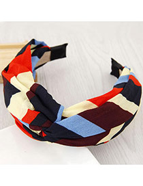 Fashion Multi-color Color Matching Decorated Knot Shape Design Simple Hair Clasp