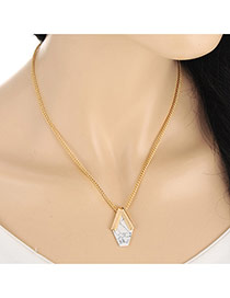 Vintage Gold Color Tophus Pendant Decorated Simple Design Alloy Bib Necklaces