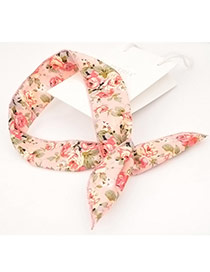 Lovely Light Pink Flower Pattern Decorated Hair Band & Hair Hoop