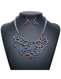 Exaggerate Multi-color Tree Shape Pendant Decorated Jewelry Sets