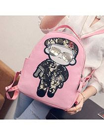 Cute Pink Soldier Pattern Decorated Dots Descendants Of The Sun Backpack