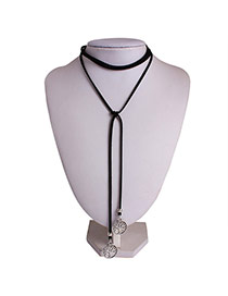 Vintage Silver Color Hollow Out Branch Pendant Decorated Multi-layer Simple Necklace
